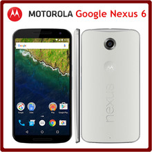 Original Motorola Google Nexus 6 XT1103 Unlocked 5.9 Inch 3GB RAM 32GB ROM Quad Core 13.0MP LTE Android 5.0 3220mAh Mobile Phone