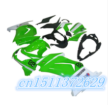 ABS white green black fairings Kawasaki Ninja 250R 2008 2009 2010 2011 2012 EX250 08-12 ZX 250R 2008 2009 2010 2011 2012