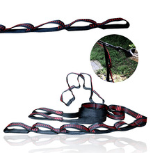 Strong No-Stretch Hammock Straps 2.8M Eco-friendly Hammock Tree Straps Portable Heavy Duty Hammock Suspension Strap System(China)