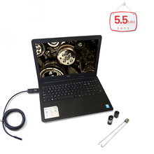 Handheld 2m/5m/7m/10m OTG USB PC Endoscope with 5.5mm 6LED Waterproof Lens PC surveillance camera Inspection Borescope for PC