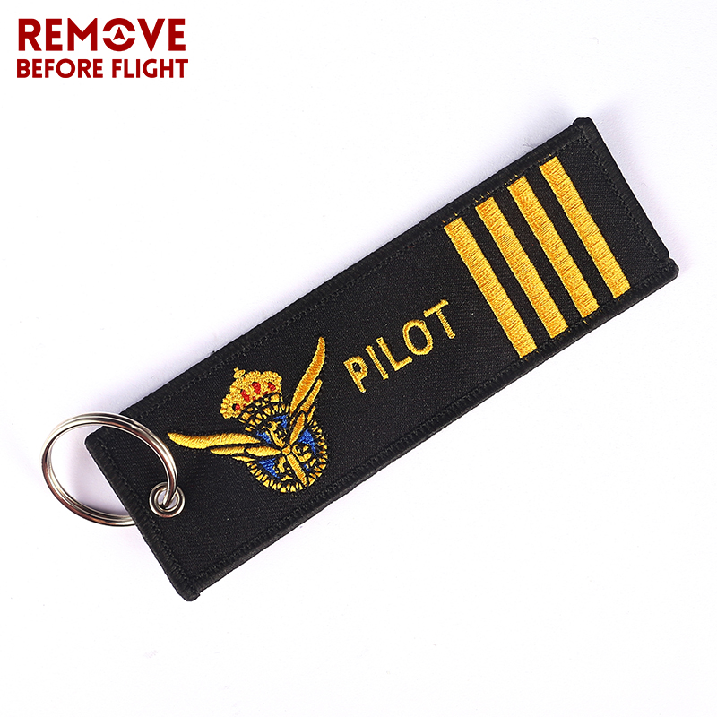 Pilot Key Chain for Motorcycles and Cars OEM Key Chains Embroidery Key Fobs Fashion Jewelry Aviation Gifts Fashionable Keychain 2