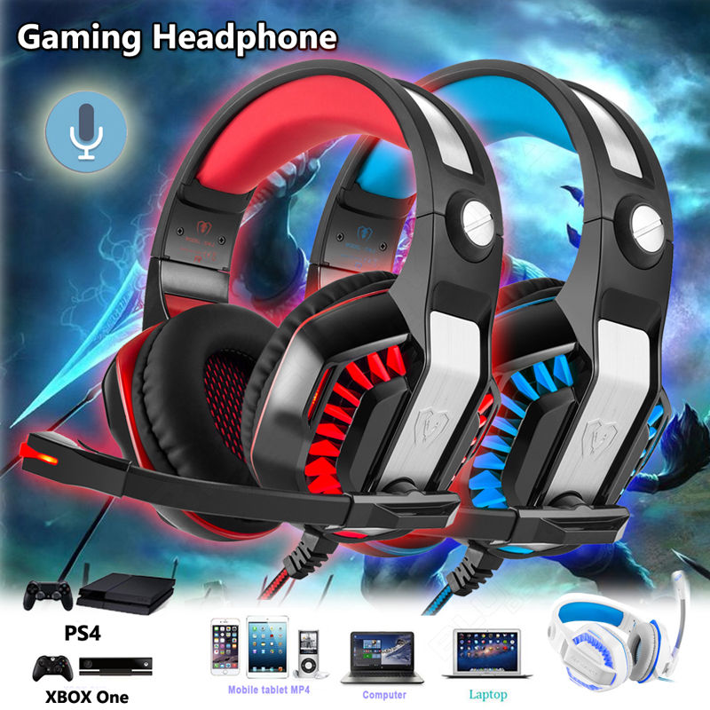 Free shipping!GM-2 Gaming Over-Ear Headphone Headset With Mic LED Light For PC PS4 Xbox one Tablet<br><br>Aliexpress