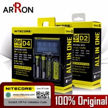 100% Original NItecore D4 D2 New I4 I2 Digicharger LCD Intelligent Li-ion AA AAA 18650 14500 16340 26650 Battery Charger Car(China)