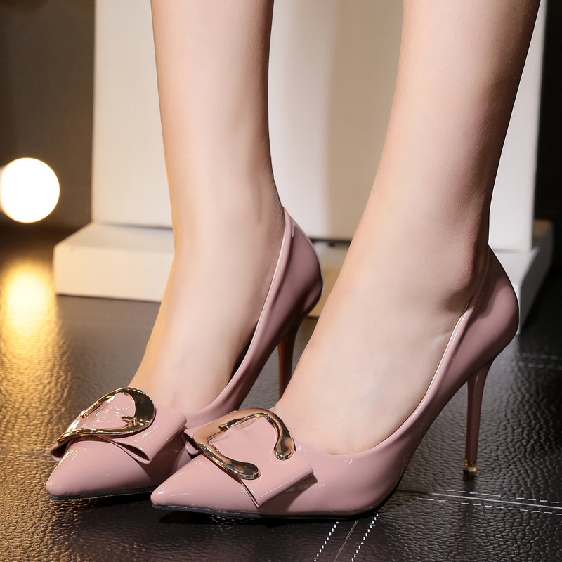 2017 New Spring Woman High Heels Pumps Sexy High Heels 9CM Women Shoes   Thin Heels Wedding Shoes<br><br>Aliexpress