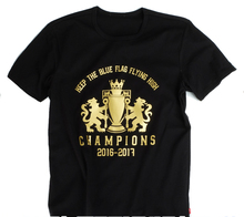 Men's Short sleeve t-shirt Chelsea champion of the 16-17 Premier League jersey Terry Eden Hazard Diego Costa Blue is the Colour