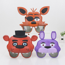 FNAF Mask Five Nights At Freddy's Sister Location Foxy Bonnie Chica Freddy Mask Glasses Party Supplies Figure Toys