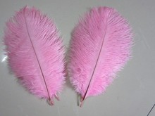 Free Shipping-100 pcs 6-8inch(15-20cm) Pink Ostrich Feather for wedding decor party table decor event supplies(China)