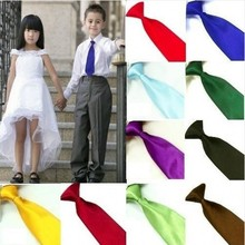 New 9 Colors School Children Elastic Neck Tie Necktie Kids Boys Choker Ties Hot