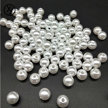 100pcs/Lot 4/6/8/10/12mm New Cheap Round Shape Imitation Pearls Beads Handmade DIY Bracelet Jewelry Accessories Making Wholesale(China)
