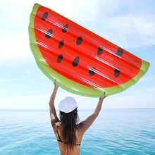 New Inflatable Watermelon Pool Float Mattress Sunbathe Beach Mat Air Swimming Ring Swimming Circle Beach Sea Party Toys(China)
