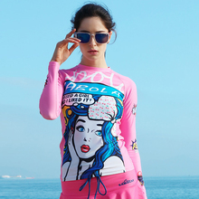 New High Quality Women Rash Guard Suit For Women UV Protection Long Sleeves Windsurf Surfing Swimsuit Swimwear Swimming Shirt