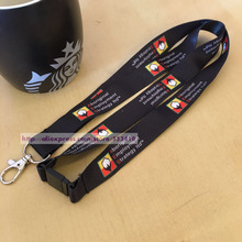 500pcs/Lot customized Key Chain Neck Strap lanyard printed your brand logo with free shipping DHL Wholesale(China)