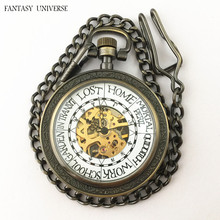 FANTASY UNIVERSE Freeshipping wholesale 10pc a lot Ron Weasley pocket watch necklace Mechanical movement Dia47mm DUFIDV868(China)