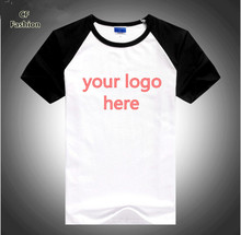 C&Fung custom logo t shirts 8 colors high quality summer style tshirt homme 100% cotton unisex men t shirt tee tops(China)