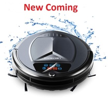 (Ship from Russia)Wireless smart Vacuum Cleaner Robot with Water Tank,Wet & Dry Mop,Touch Screen,Tone,Schedule,Self Charge,UV