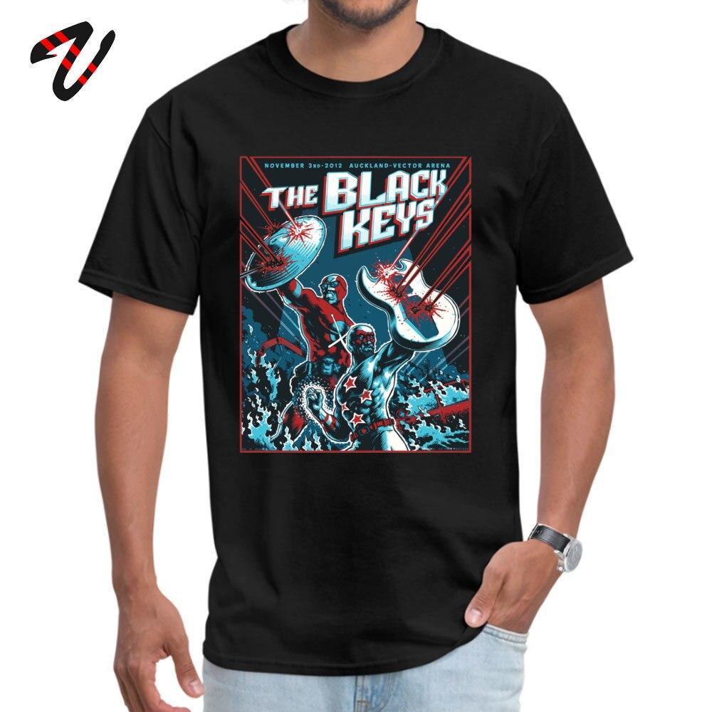 The Black Keys 100% Cotton Normal T Shirt Special Short Sleeve Men T-Shirt Simple Style Summer/Autumn Sweatshirts Crewneck The Black Keys14890 black