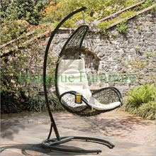 Garden rattan hammock chair set furniture with cushions