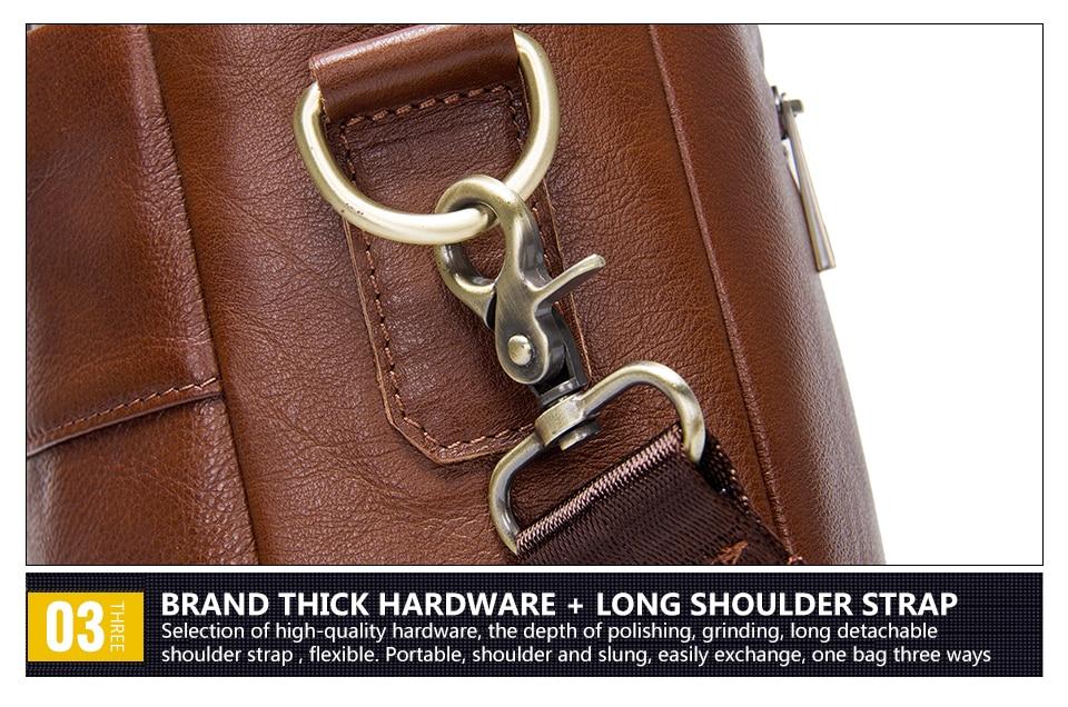 """حقيبة لابتوب من الجلد الطبيعي لرجال الاعمال 15.6"""" 15"""