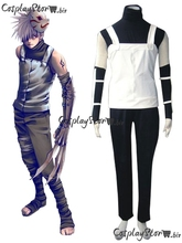 Naruto Cosplay Naruto Costume Hatake Kakashi Anbu Uniform Cosplay White Mens Naruto Cosplay Costume 2014