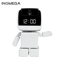 INQMEGA New WI-FI  baby monitor Security Robot Cam with LED Clock Remote Control Night Vision Pan Home IP Cam