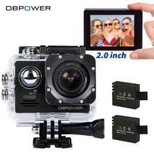 DBPOWER EX5000 2.0 inch Screen Wifi 1080P Waterproof Sports Action Camera 14MP Sport Cam Go SJ5000 Pro 2 Batteries Accessories