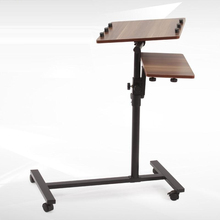 BSDT Lengthen the modern standing bedside notebook comter desk can be lazy lifting rotary table mobile creative personality