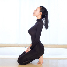 Buy Women Open Crotch Striped Sheer Bodystocking Men Fetish Sexy Bodysuit Double Zipper Catsuit Long Sleeves Body Stocking