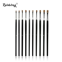 10pcs/SET Nail Art Design Brush Spiral Gel Pen Tips Tool for nail brush nail tool 10 size set nail gel brush(China)