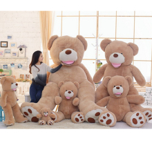 Big Giant American Bear Teddy Huge Stuffed Plush America Brown Bear Smilling Best Birthday Christmas Gift(China)
