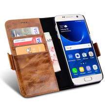 Luxury Leather Case For Samsung Galaxy S7 Edge Flip Wallet Coque + TPU Silicon Back Cover For Samsung Galaxy S7 Capinha
