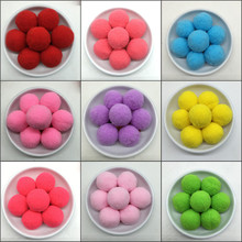 40pcs/Lot Dia 30mm Mixed Colors Cashmere Pompoms Fur Craft DIY Soft Pom Poms Wedding Decoration,Sewing/Glue On Cloth Accessories(China)