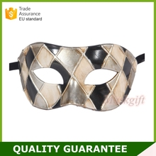 2017 Hot Sell [Party mask] New Arrival Unique Men's Venetian Checked Mask for Masquerade Ball Events harlequin mask