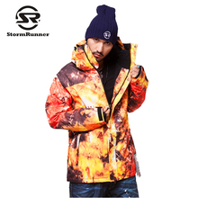 StormRunner Snow ski jacket flame style Men's Jacket waterproof windproof snow Ski Jacket(China)