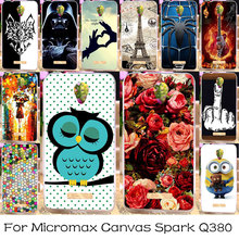 TAOYUNXI DIY Painted Silicone Phone Case For Micromax Canvas Spark Q380 Housing Cover Bag For Micromax Q380 Case Cover Skin
