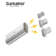 Buy Suntaiho 3 IN 1 Micro USB Charging Magnetic Conver Type-c /ios /Android Charging Magnetic Adapter Galaxy S8 plus 6/7/8 plus for $3.92 in AliExpress store