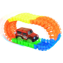 Car Toys Glow Racing Track DIY Car Track Toy Car Electronic Rail Glow Race Racing Car Set Toy Puzzle Roller Coaster Toys for Kid