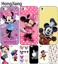 HongJiang mickey and minnie cute cell phone Cover case for iphone 6 4 4s 5 5s SE 5c 6 6s 7 8 plus case for iphone 7 X(China)