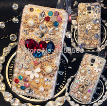 For Samsung Galaxy J2 2015 J200 Handmade Luxury Rhinestone phone cases Crystal cover(China)