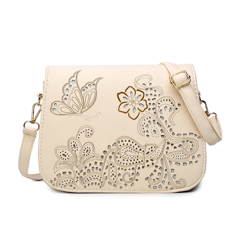 2017 New Fashion Ssddle Bag Ladies Hollow Out Flower Messenger Bag Women High Quality PU Leather Shoulder Bag Female Bolsos<br><br>Aliexpress