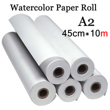 45cm*10m Water Color Painting Paper A2 Watercolor Paper for Acrylic paint Painting Drawing Art set Rice Paper Roll(China)