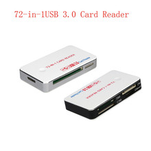 Smart Card Reader Multi Memory Card Reader 72-in-1USB 3.0 Card Reader Compatible with all Versions of SD / HC, MICROSD, CF, XD