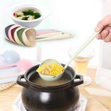 creative Hot pot Soup spoon Long handle Spoon colander europe tableware home supplies Wheat Straw Noddle Spoons supplies Gift 35
