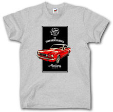 FORD MUSTANG T-SHIRT S - XXL 1966 MUSCLE CAR LEGEND CLASSIC MCQUEEN AUTO New Mens Spring Summer Dress T SHIRT Sleeve Casual