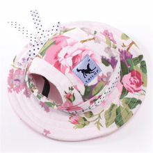 TAILUP Lovely Princess Dog Cap Breathable With Ear Holes / Mesh Sun Hat / Beach Hat For Small Puppy Summer Pet Products 6 Styles