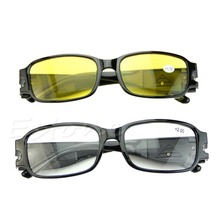 1 PC Christmas New Multi Strength Night Vision Reading Presbyopia Diopter LED Eyeglass Glasses