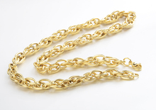 8mm Width Luxury Chunky Heavy Stainless Steel Gold Plated Thick Link Chain Necklace For Men XL0056