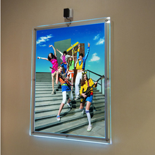 (Pack/5units) A1 Single Sided Wall Mounted LED Art Hanging Systems Display Pocket,Wall Mounted Illuminated Poster Frames(China)