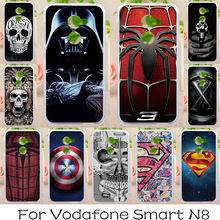 AKABEILA Soft tpu Phone Cases For Vodafone Smart N8 VFD610 5.0 inch Covers Cases Back Painted Silicone Spider-Man Bags(China)