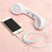 3.5mm Retro Phone Telephone Radiation-proof Receivers Cellphone Handset For iPhone 4 5 6 7 Classic Headphone MIC Microphone(China)