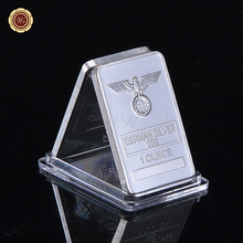 Rare 1 Oz Silver Bar German 999 Silver Plated Iron Cross Bar Clear Acrylic Capsule for Christmas Collection
